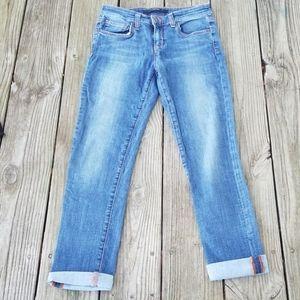 Joe's jeans cuffed crop Leslie wash jeans
